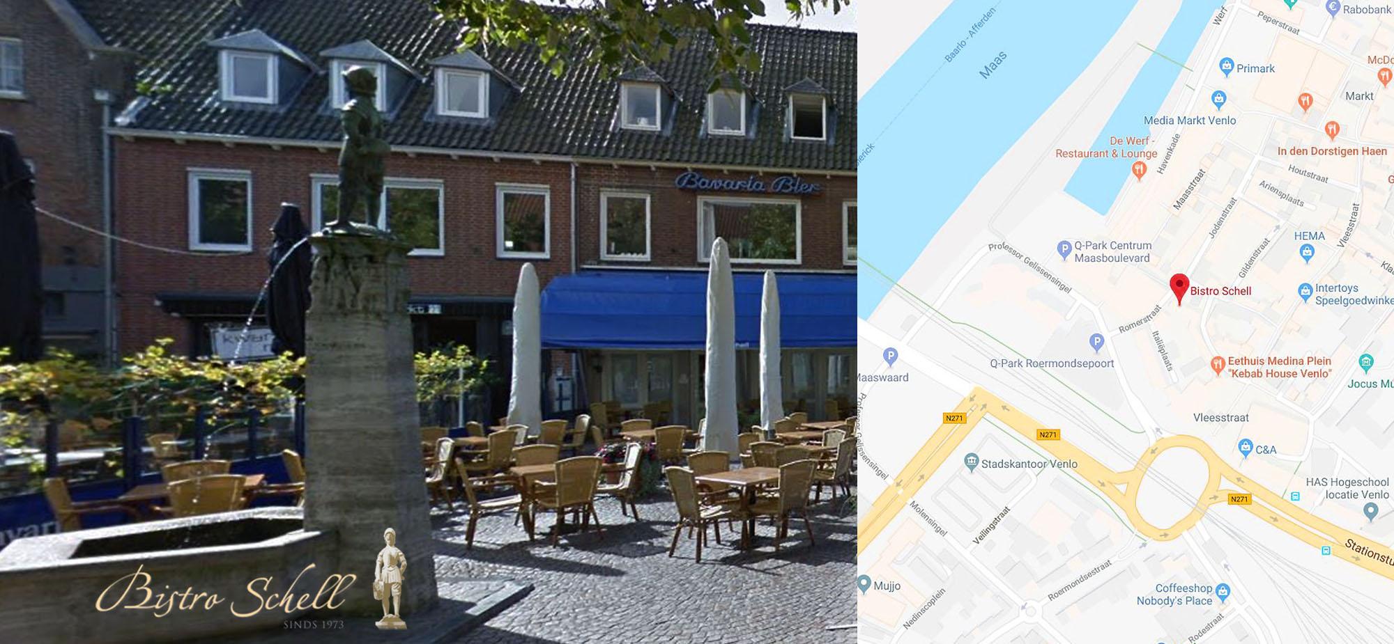bistro schell google maps   venlo   contact  